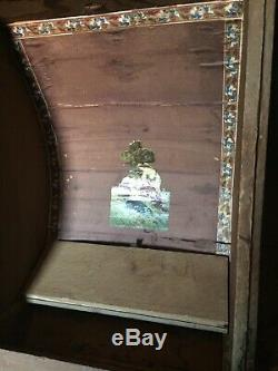 1800's Antique Metal Inlay Arch Top Camel Back Hump Back Steamer Trunk