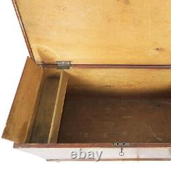 1800s Faux Grain Dovetailed Painted Pine Blanket Chest Trunk 42 x 20 x 25 T