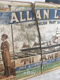 19th century Norwegian Immigration to United States and Canada poster, 12x20