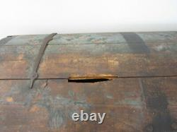 Antique 1832 Dome Top- Hand Painted- 19th Century Travel Trunk- Heirloom Piece