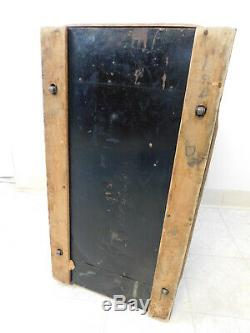 Antique 1870s Steamer Victorian Tin Wood Slat Dome Trunk Lingerie Bicycle Litho