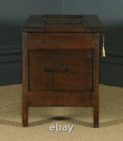 Antique 18th Century Georgian Oak Joined Panelled Coffer Chest Blanket Box Trunk