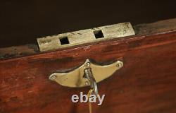 Antique Anglo-Indian Victorian Colonial Teak & Brass Campaign Chest Trunk Box