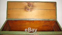 Antique Blanket Chest Trunk Wood Box 1862