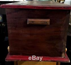 Antique Box Hand Made Carved Panel trunk silver trunk hope chest very old