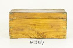 Antique Chest Wooden Trunk Camphor Wood late 19th Cent. Wooden Chest 677