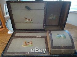 Antique Doll Trunk With Many Compartments