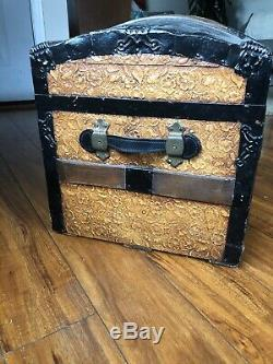 Antique Dome Chest, Vintage Victorian Trunk With Tray&key