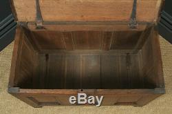 Antique English 18th Century Georgian Oak Joined Coffer Chest Blanket Box Trunk