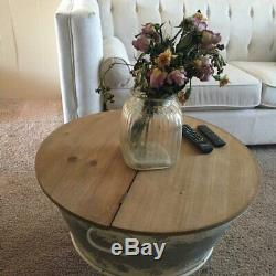 Antique Farmhouse Coffee Cocktail Table Rustic Storage Trunk Accent Home Decor