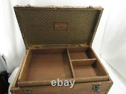 Antique Fessenden's Saddlery Factory #6 Wood Trunk Coach Wagon/Buggy/Harness/Box