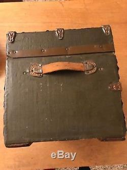 Antique Handmade Doll Chest Trunk 16x10x10 Lined 19th Century Craftsmanship