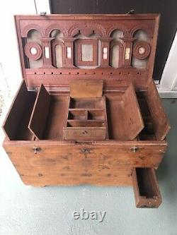 Antique Indian Marriage Chest Dowry Trunk