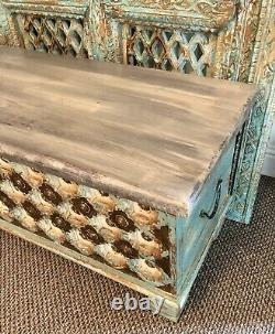 Antique Indian Storage Trunk, Treasue Chest, Furniture, Home And Living