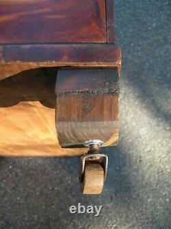 Antique Jacob Bloom Phila. Pa Tennessee Red Cedar Wood 3' Blanket Chest