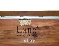 Antique LANE Cedar Chest With Upholstered Top LOCK REMOVED Vintage LANE Trunk