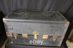 Antique Late 1800s Barnum & Bailey Circus Wardrobe Steamer Trunk Drawers Hangers