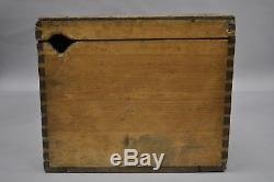 Antique Primitive Dovetailed Pine Wood Blanket Box Chest Hope Trunk Storage