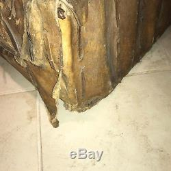 Antique Rawhide over Wood Central/ South American Spanish Colonial Trunk/ Petaca
