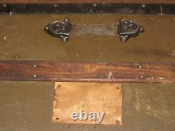 Antique Steamer Trunk Circa early 1900's Excellent Shape