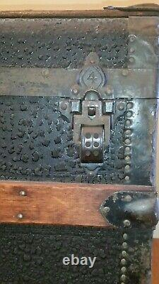 Antique Steamer Trunk Top Chest, Rich, Reed Atwood