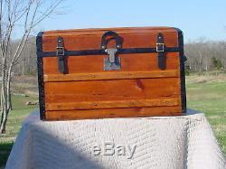 Antique Trunk Patd 1870 Great Restoration As Much As148 Years Old Rare Trunk