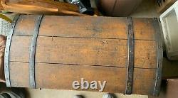 Antique Vintage Dome-topped Immigrant Trunk/chest Signed Nf And Dated 1861