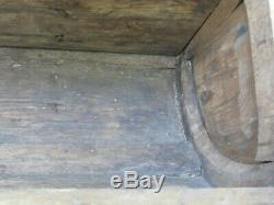 Antique Wood Trunk, Box, Seat or Step for Horse Drawn Wagon Great Paint & Iron