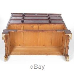 Antique mule chest Southern blanket chest drawer trunk 18th c rustic primitive