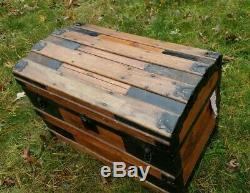 Antique steamer trunk dome top