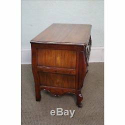 Baker Milling Road French Louis XV Style Walnut Bombe Chest
