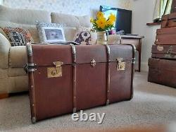 Beutiful vintage bentwood trunk antique chest coffee table storage chest toy box