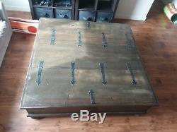 Chest Coffee Table Trunk Extra Storage Extra Large Dark Brown