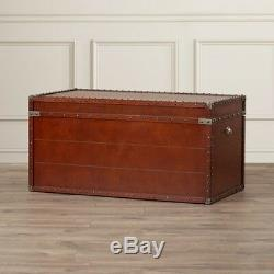 Coffee Table With Storage Lift Top Vintage Wood Side End Chest Trunk Living Room