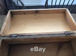 Early Antique Primitive Chest Trunk Box Wooden Wood Domed Dome Paint Decorated