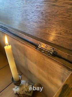 Fabulous Small Antique Vintage Old Painted Pine Chest / Trunk / Box