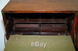 Feb 1st 1876 Stamped Camphor Wood Military Campaign Chest Of Drawers Secrataire