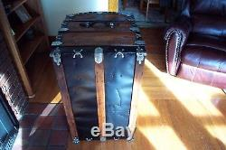 GORGEOUS RARE Refinished Antique Dome Top Steamer Trunk Chest H. W. Rountree&Bro