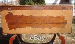 German All Wood Dovetailed Steamer Trunk With Lock, Key and Provenance