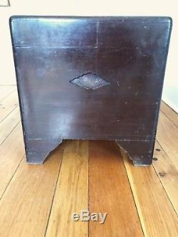 Hand Carved Wood Asian Antique George Zee and Company Trunk Chest