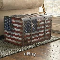 Home Storage Trunk Accent Furniture Chest Living Room Bedroom Vintage Decor Box