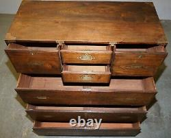 Huge Antique Camphor Wood Anglo Indian Military Campaign Chest Of Drawers