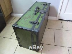 Industrial Retro Table Trunk Vintage Workmans Tools Chest