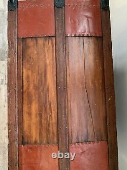 Large Antique Trunk From The 1800s