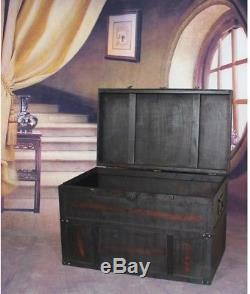 Large Chest Antique Style Wooden Trunk Old Cedar 31 in. X 18 in. X 20 in Brown
