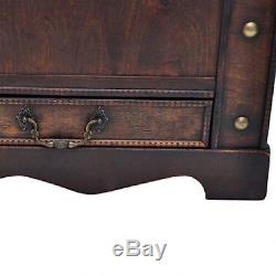 Large Vintage Coffee Table Antique Trunk Steamer Storage Travel Wooden
