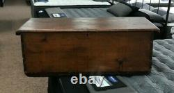 Late 18th Early 18th Century Sailor's Sea Chest Trunk Canted Wood