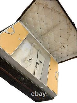 Louis Vuitton steamer trunk (early 1900's) with interior accessories tray