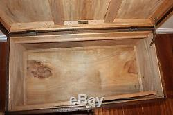 Old Antique Chinese Sandalwood Wood Trunk Chest From May