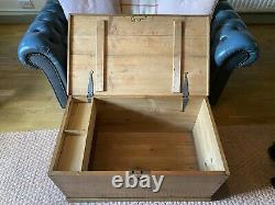 Old Victorian PINE CHEST, ANTIQUE Wooden Blanket TRUNK Coffee TABLE, Storage BOX
